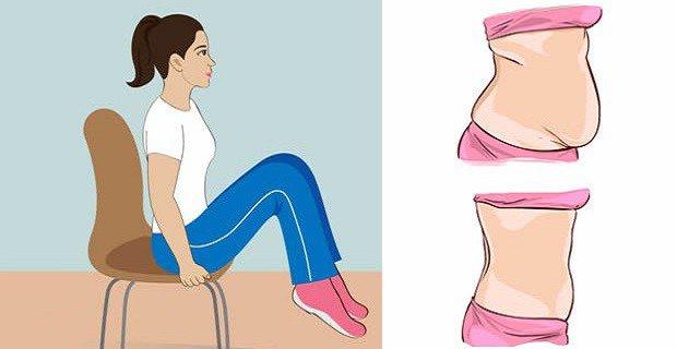 5 exercices sur une chaise qui réduisent la graisse du ventre pendant assis