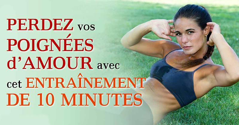 Perdez vos poignées d'amour avec cet entraînement de 10 minutes par jour