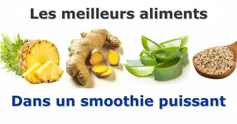 Pour éliminer le ventre et ne plus être malade, manger smoothie à l'ananas, aloe vera, avoine et gingembre