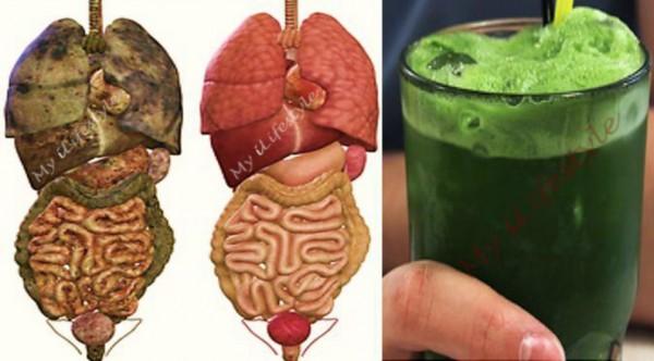 Super jus vert qui élimine toutes les toxines et les graisses de votre corps